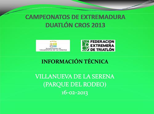 Información Técnica Villanueva 2013
