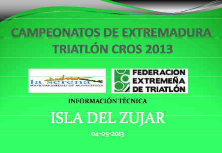Información Técnica Zujar 2013