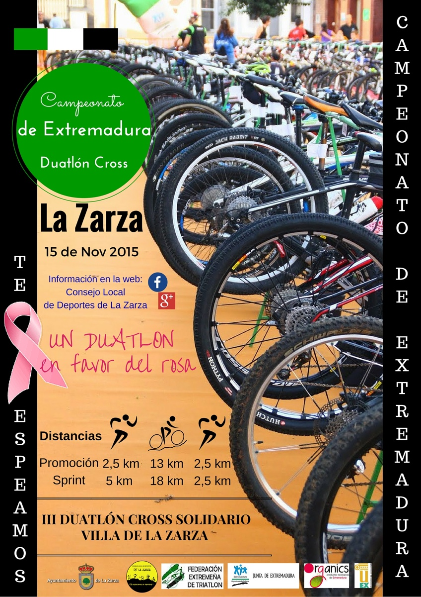 Cartel Campeonato de Extremadura de Duatlón Cros