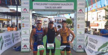 María Rico y Eloy Valle ganadores del VI Triatlón Sprint de Salvaleón.