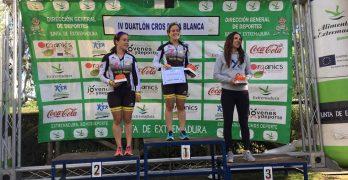 Víctor Sánchez y Laura Durán vencedores del IV Duatlón Cros Doña Blanca.