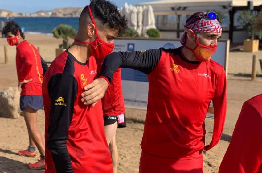 Kini Carrasco concentración paratriatlón triatlón