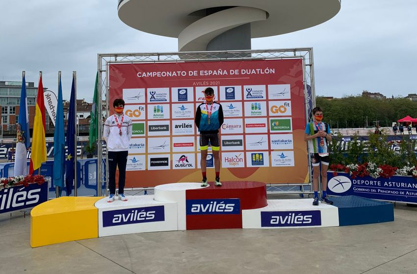 Podio cadete masculino del Campeonato de España de Duatlón