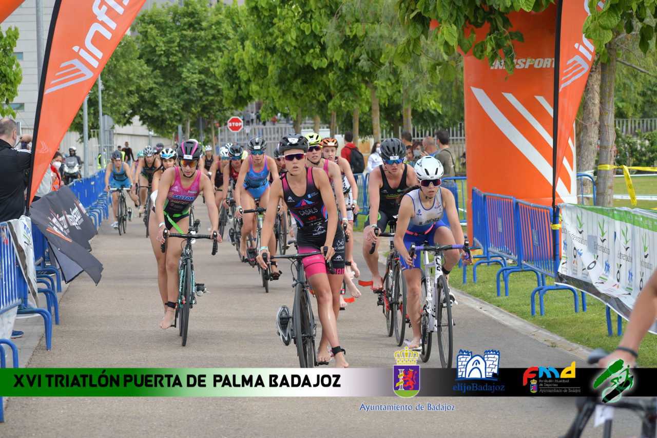 Fotos del XVI Triatlón Puerta Palmas de Badajoz